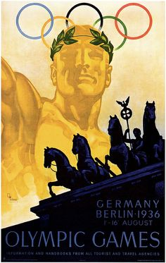 1936 ... Olympics  (a lot of symbolism in this poster)