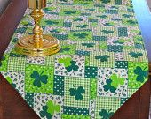 st patty day table runner