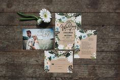 Romantic Bohemian Wedding Invitations | Photo by With Love & Embers via http://junebugweddings.com/wedding-blog/romantic-bohemian-wedding-friedman-farms/