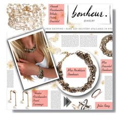 """""""Bonheur Jewelry Contest"""" by prigaut ❤ liked on Polyvore featuring bonheurjewelry"""