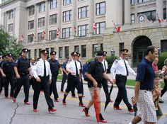 2c18c17b597f Policemen Wear Heels- Real Men Wear Heels -- Hundreds of men walked for one