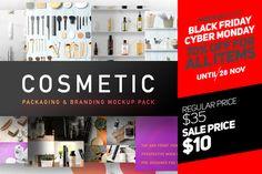 Cosmetic Packaging Branding MockUp  by Mockup Zone $10 till Nov 28 - @creativemarket