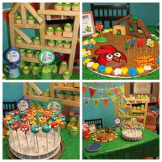 Kidspired Creations: Angry Birds Birthday Party.  Fantastic and creative party!