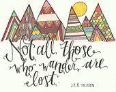 J.R.R. Tolkien Illustrated Quote- Digital Print via The Scribblist on Etsy
