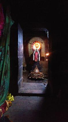 Goddess shrine with Sri Meru Yantram, Shri Hanuman, Shri Ganesh, Krishna Art, Hare Krishna, Shiva Parvati Images, Shiva Shakti, Hindu Deities, Hinduism, Lord Shiva Stories
