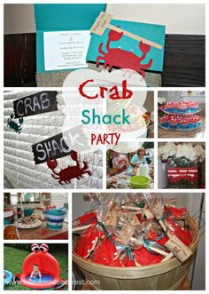 Home. Made. Interest. | Crab Shack Birthday Party | {http://www.homemadeinterest.com} Crab theme party, favors, decor and food. #crab #personalized #party