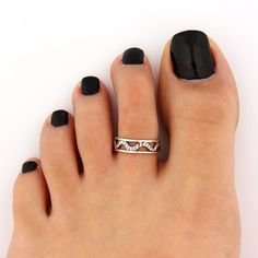 toe ring sterling silver toe ring snake design by Silversmith925, $11.00
