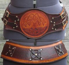 Ladies celtic hero belt.  Shaped for the ladies -- because hips!  More pics of kit at source.
