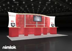 Nimlok designs trade show booths and healthcare exhibits. For Intelligent InSights, we designed and built a custom display solution to shoecase their brand.