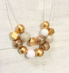 The Mixed Bead 2 Strand Necklace in White by hillsidestudio2110