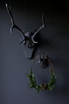 Wall colored #antlers.