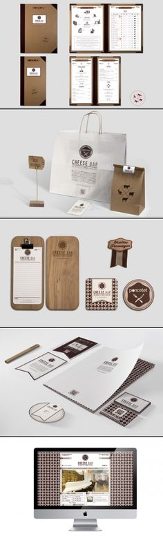 Identity / Poncelet Cheese Bar | #stationary #corporate #design #corporatedesign #identity #branding #marketing < repinned by www.BlickeDeeler.de | Visit our website: www.blickedeeler.de/leistungen/corporate-design