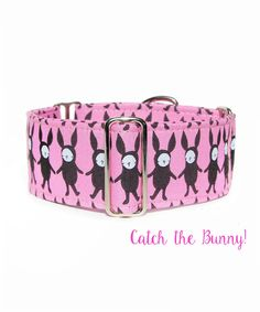 Easter Dog Collar, Pink and Brown Wide Greyhound Martingale Collar. www.collartown.etsy.com