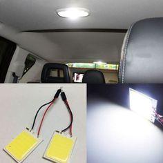 1 unids 8 W COB 24 LED Chip de Coches Luz Interior T10 w5w ba9s Adaptador de los bulbos de lámpara t4w c5w Bóveda Del Adorno LLEVÓ la luz del Panel Auto del coche fuente