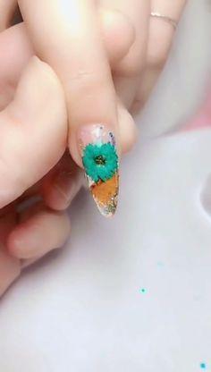 Simple nails art design video Tutorials Compilation Part 463 Nail Art Designs Videos, Simple Nail Art Designs, Winter Nail Designs, Easy Nail Art, Winter Nail Art, Winter Nails, Summer Nails, Us Nails, Matte Nails