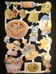 Lámina de cromos troquelados ingleses de palmar palma palmitas picar. Puedes adquirirla en www.zpaper.es English sheet of scraps, you can buy it in www.zpaper.es Scraps Scrapbooking Glanzbilder Oblaten Die Cut Chromos Decoupis Poezieplaatjes Decoupage Papel Paper Coleccion Collection