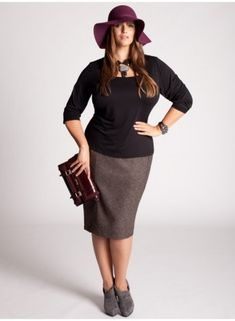 Simple Plus Size Business Attire