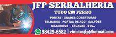 Lona de Fachada Empresa: JFP Serralheria