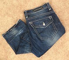 Rock Revival Jeans 40 x 33 Steven Straight Leg Fleur De Lis Distressed Denim EUC #RockRevival #ClassicStraightLeg