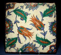An Iznik Pottery Tile, Ottoman Turkey, ca. 1580