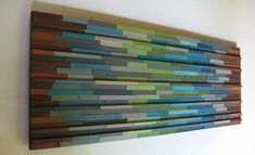 Modern Wood Sculpture Abstract Painting  por RusticModernDesigns, $525.00