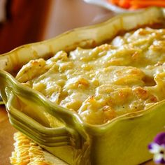 Rich and creamy scalloped potatoes are an excellent make-ahead choice for large family gatherings and pair well with almost any protein including ham, steak or roast beef, pork loin, turkey, or roast chicken.