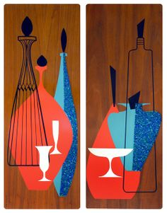 Oh So Lovely Vintage: Inspiration: 60's wood wall art.