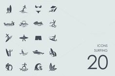 Download Surfing icons @creativework247