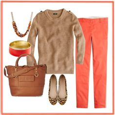 """""""Bennett chino in poppy i"""" by georgiabelle on Polyvore"""