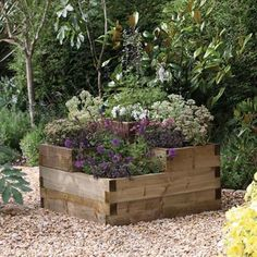 A tiered raised bed.