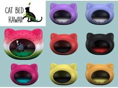 Cat Bed Kawaii - Los Sims 4 Descarga - SimsDom
