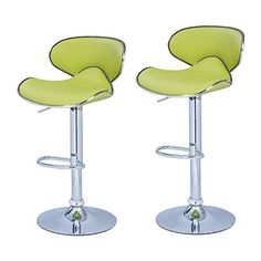 Adeco Lime Green Cushioned Leatherette Adjustable Barstool Chair, Curved Back, Chrome Finish Pedestal Base (Set of two) Adeco http://www.amazon.com/dp/B00PWZ87TO/ref=cm_sw_r_pi_dp_2Wl5ub001XPNQ