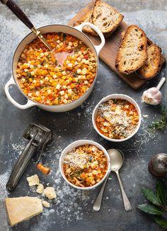 Winter minestrone soup recipe #sou #recipe