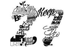 Typography, caligraphic.