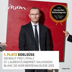 #DeutscherRotweinpreis 1. Platz Edelsüß: St. Laurent / Cabernet Sauvignon Blanc de Noir Beerenauslese Pfalz 2015, Weingut Frey, Essingen #Rotweinpreis #Deutscherwein