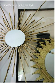 DIY Sunburst Mirrors - Bamboo Sunburst Mirror by Trenna Travis