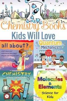 Chemistry is one of our favorite school subjects! Take a look and get your kids some of these awesome Chemistry books kids will love! Science Curriculum, Preschool Science, Science Books, Teaching Science, Science For Kids, Science Activities, Science Projects, Science Experiments, Sequencing Activities