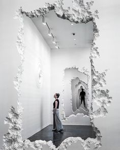 Decomposed walls expose layers in this installation by Snarkitecture. #morpholioINTERIOR  See more on the inspirational @designboom. by morpholio