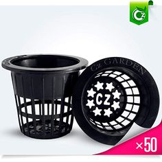 2 inch Net Pots Cups Heavy Duty Round Wide Rim Design - Orchids Aquaponics Hydroponics Slotted Mesh (Cz Garden All Star – 50 Black) Hydroponics System, Aquaponics, Wide Mouth Mason Jars, Plant Health, Large Plants, Lip Designs, Types Of Soil, Lawn And Garden, Trees To Plant