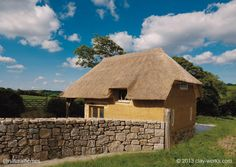 This little beauty in Cornwall, England was built in 2005 by Adam and Katy of Clay Works [www.clay-works.com]. They used clay from the site, straw from the fields next door and aggregate from a quarry just 4 miles away. See more at www.naturalhomes.org/timeline/clayworks-cobcottage.htm