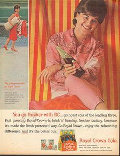 RC+Cola+Vintage+Magazine+Print+AD+for+RC+Crown+Cola+1963