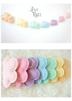 Add a dreamy touch to your kids room with this pastel rainbow garland! ^_^