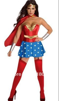 free shipping hot selling super women halloween cosplay costume $18.94