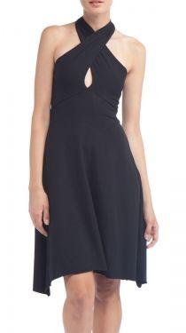 Cotton Spandex Jersey Bandeau Dress, Black
