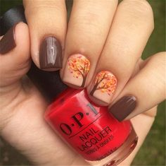 Stylish Fall Nail Designs That You Must Know And Try; Fall Nail; Fall Nail Design; Autumn Nail; Autumn Nail Designs; Fall Nail Color; Autumn Nail Color; Stylish Nail Designs; Stylish Nails; Leaf Nail Design; Pumpkin Nail Designs;