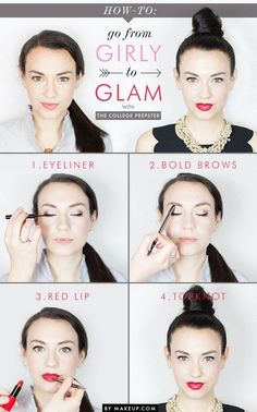 How to Go from Daytime to Nighttime Look | Perfect Red Lips by Makeup Tutorials at | Makeup Tutorials http://makeuptutorials.com/10-minute-makeup-tutorials-for-work