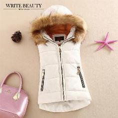 [ 27% OFF ] Autumn And Winter 2015 Cotton Vest With A Hood Patchwork Cotton Vest Female Reversible Winter Jacket Women