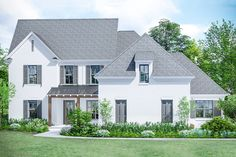 Exclusive Southern Home Plan with Private Master Bedroom - 510136WDY | Architectural Designs - House Plans Southern House Plans, Southern Homes, Master Bedroom Plans, Master Plan, Brick Siding, Separating Rooms, Stucco Homes, Keeping Room, Farmhouse Plans