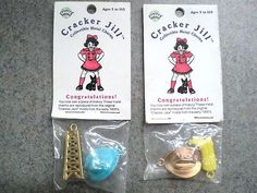 Vintage Cracker Jill Collectible Metal Charms Cracker Jack Prize Reproductions