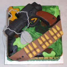 Image detail for -Army/Gun Cake by LiaX on Cake Central
